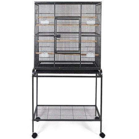 Gymax Bird Parrot Cage Heavy Duty - Black Bird Cage
