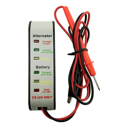 Battery / Alternator Diagnostic Tester Maintainer w/ LED Display Lcd Battery Tester