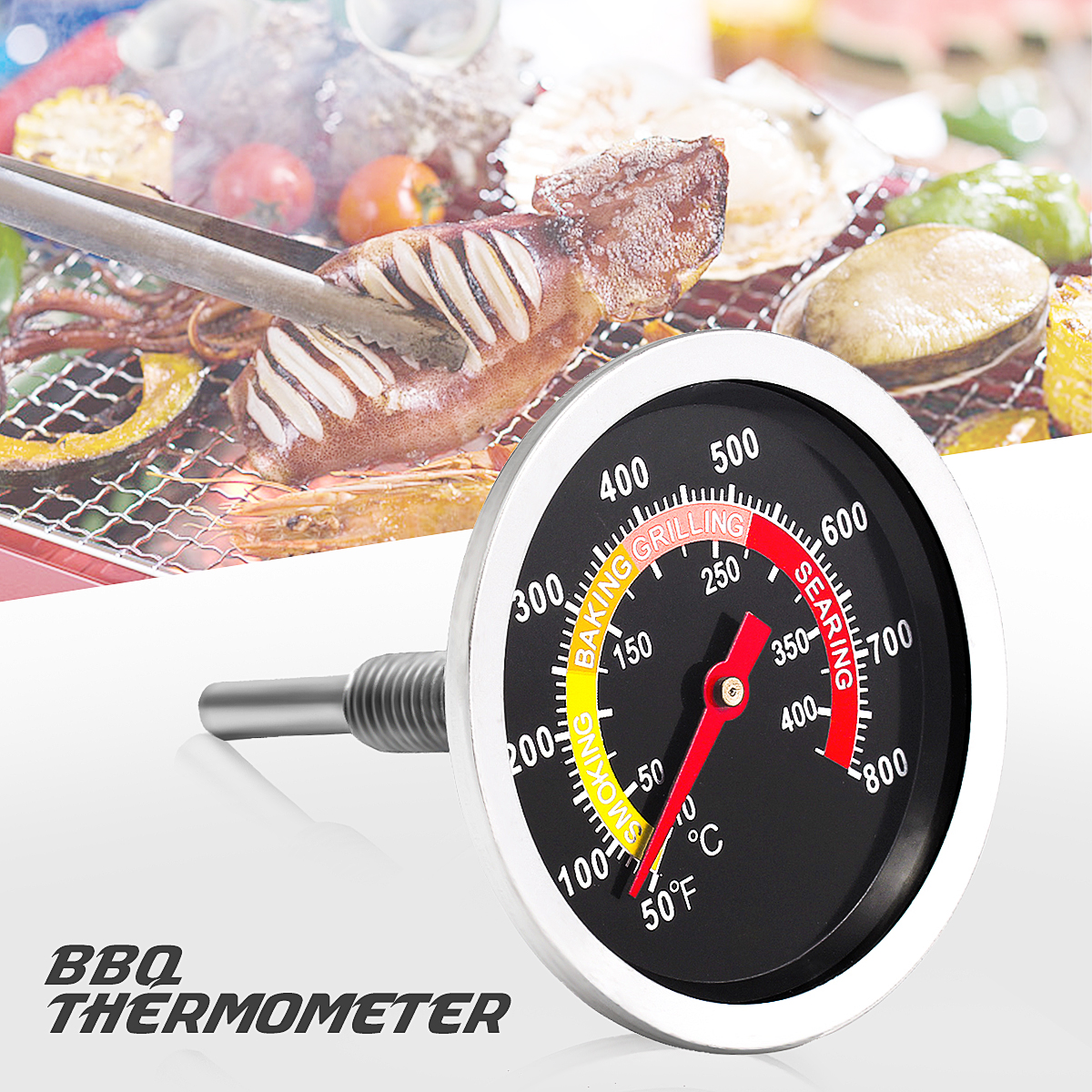 h Wireless Digital Meat Thermometer Kitchen Cooking Timer ...
