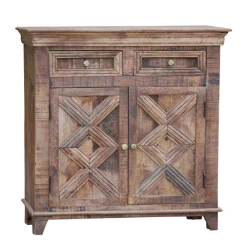Porter International Designs Wanderloot Plantation Mango Wood 2-door, 2-drawer Sideboard (India)
