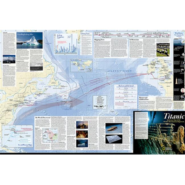 National Geographic Maps RE01020686 Titanic Wall Map - Folded and Polybagged
