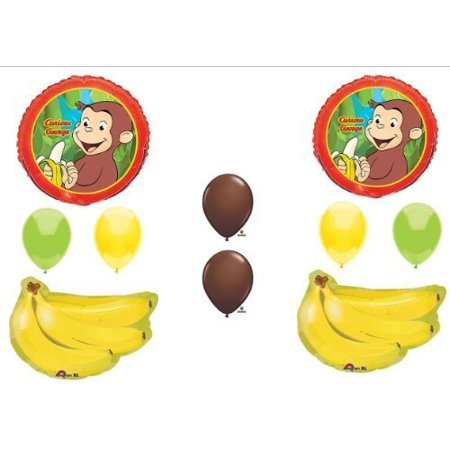 CURIOUS GEORGE BIRTHDAY PARTY Balloons Decorations Supplies Monkey Bananas by Anagram (Monkey Party Supplies)