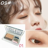SUPERHOMUSE Two Color Gradient Eye Shadow Palette Waterproof Professional Shimmer Glitter Eyeshadow
