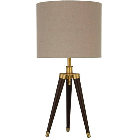 "Better Homes and Gardens Tripod Lamp Tripod Table Lamp, Easy On/Off Switch, 22"" Height (55.9cm) Mocha Finish"