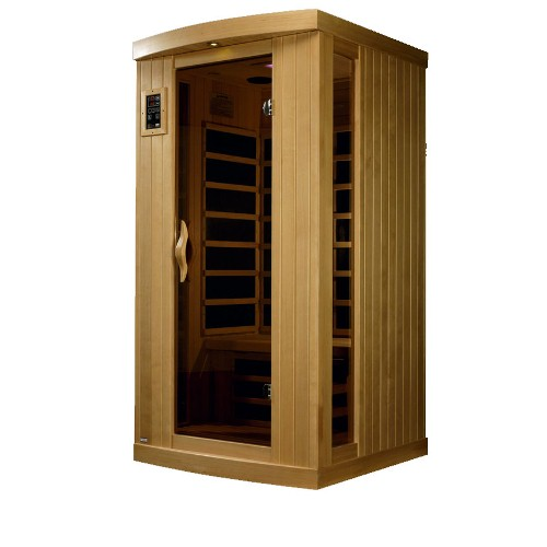 Infrared Sauna by Golden Designs, 1 Person PureTech Ultra Low EMF by Gold Design Saunas