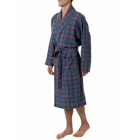 Fruit of the Loom Men's Flannel Shawl Collar Robe (Mans Onesie)