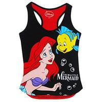 [P] Disney Juniors' The Little Mermaid Princess Ariel Cute Pajama Top - Black & Red (LG)