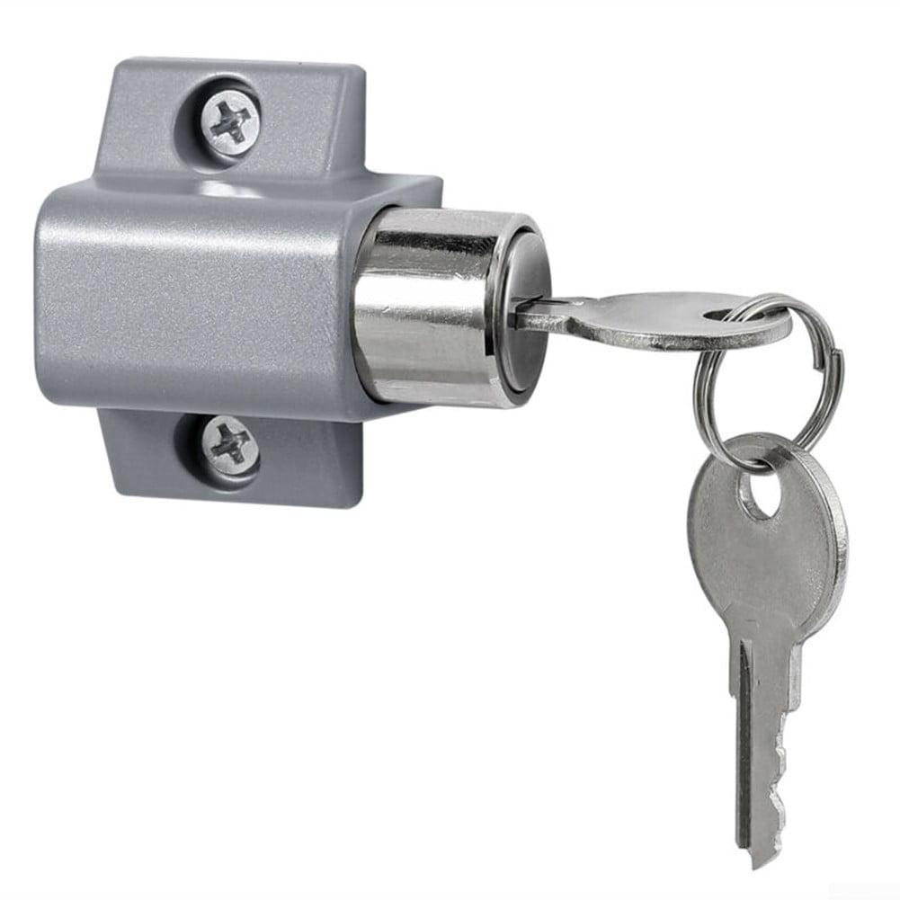 Details about  /2Pcs Sliding Patio Door Catches Set Window Bolt Security Lock With 2 Keys