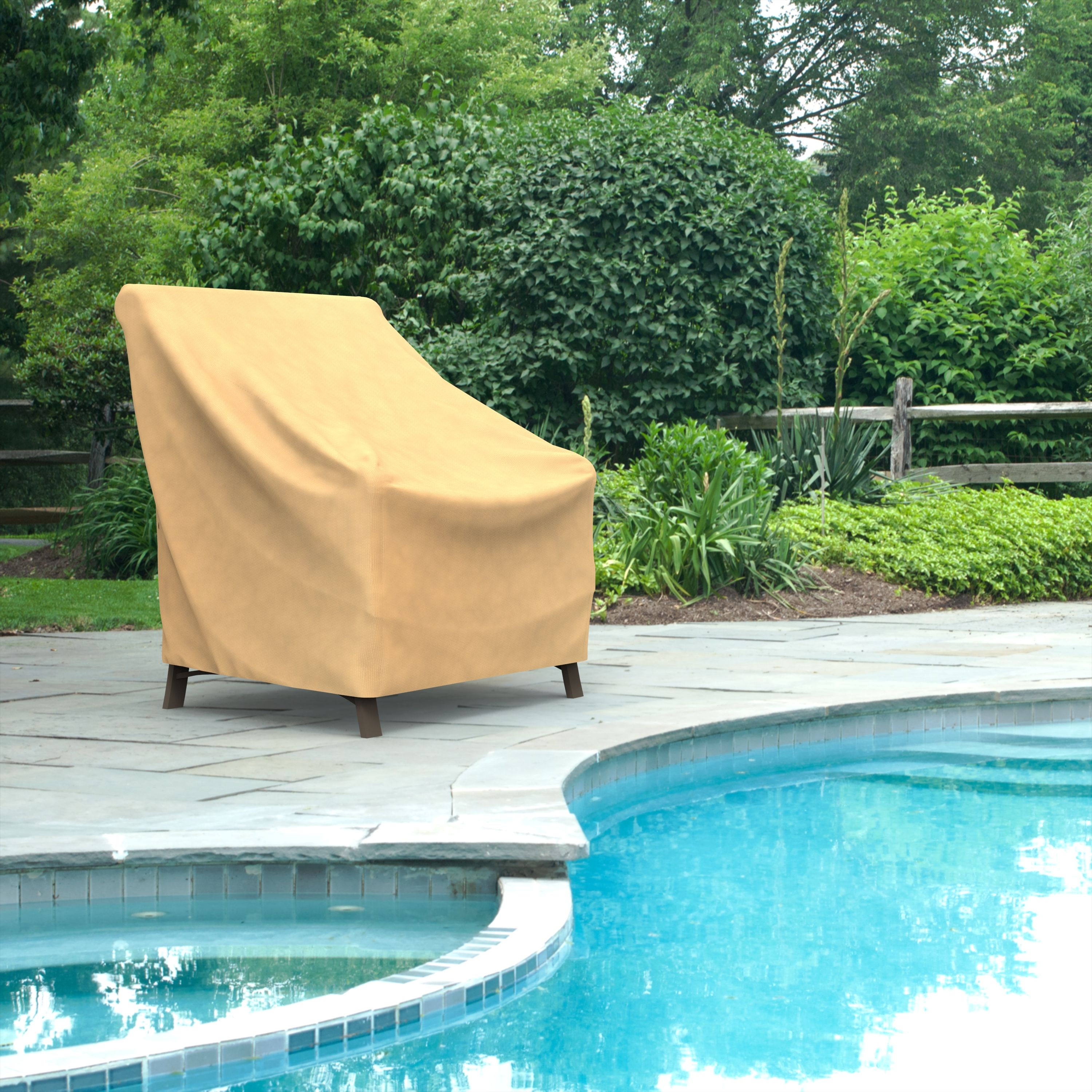 Budge Small Nutmeg Patio Outdoor Chair Cover, All-Seasons