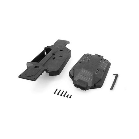 Carisma CIS15413 GT24B Main Chassis & Cover Spare Parts Set, Black (Main Chassis Set)