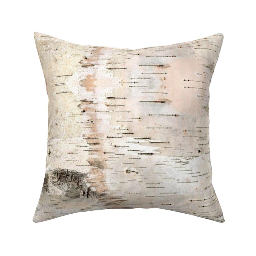 Birch Pale Nature Birch Bark Throw Pillow Cover W Optional Insert By Roostery Walmart Com Walmart Com