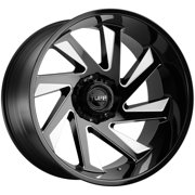 "Tuff T1B (Right) 26x14 8x170 -72mm Black/Milled Wheel Rim 26"" Inch"