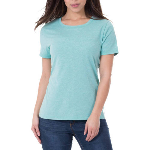 Faded Glory Women's Essential Short Sleeve Crewneck T-Shirt