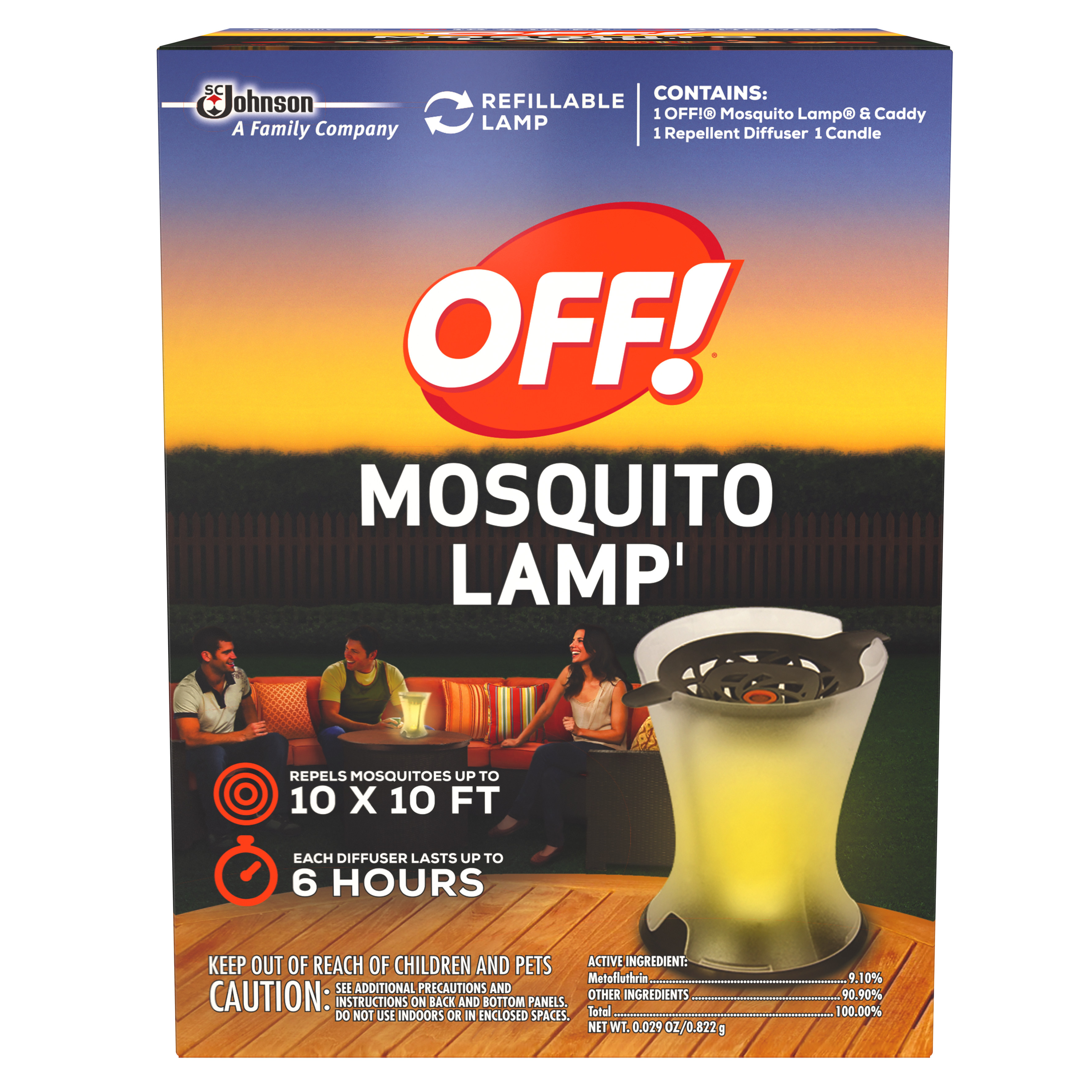 OFF! Mosquito Lamp Starter Kit 0.029 Ounces