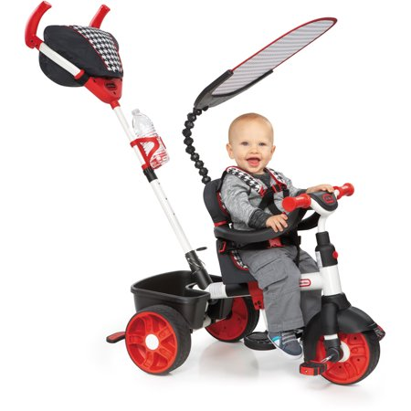 Little Tikes 4-in-1 Sports Edition Trike, Red/White