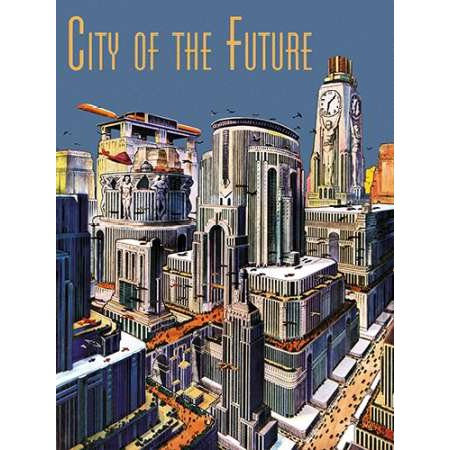 Retrosci-fi City of the Future Poster Print by Frank R