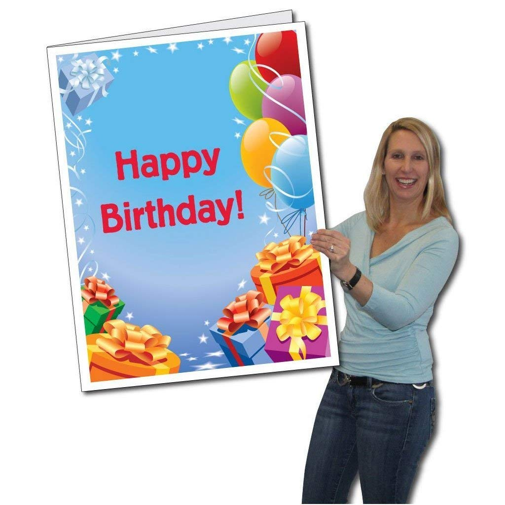 Jumbo Greeting Cards: Giant Birthday Card (Presents and Balloons), 8
