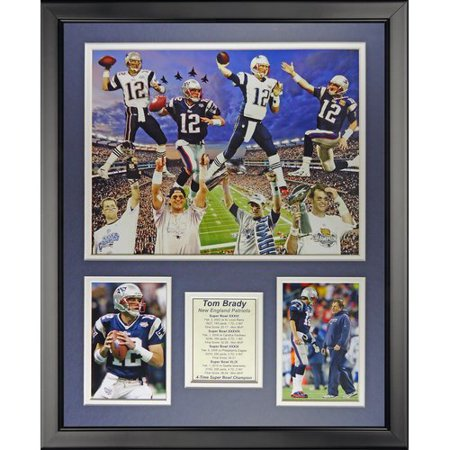 Legends Never Die Tom Brady 4 Time Super Bowl Champ Framed Memorabilia