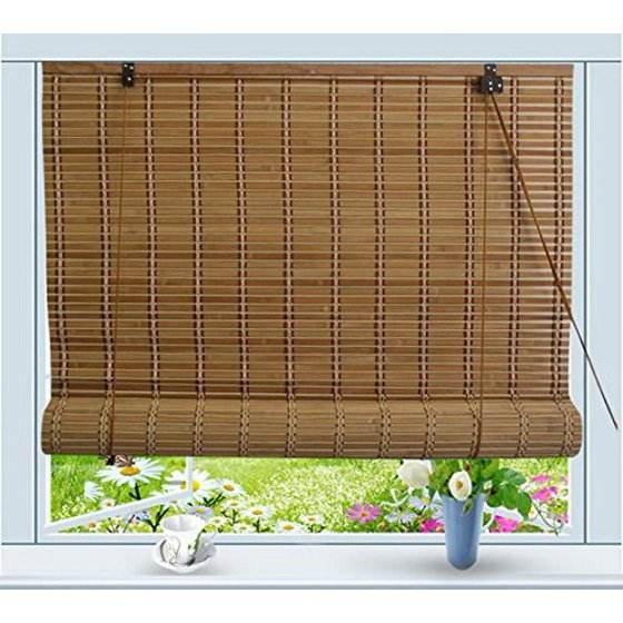 bamboo roll up window blind sun shade w36 x h72. Black Bedroom Furniture Sets. Home Design Ideas