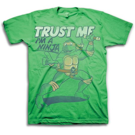Teenage Mutant Ninja Turtles Trust Me Im A Ninja Mens Green T-Shirt | XL - Tmnt Shirts For Adults