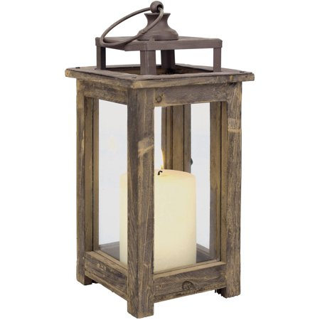 Small Rustic Wood Lantern - Lantern Centerpieces For Wedding