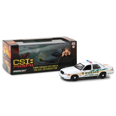 1:43 Csi (2002-2012 TV Series) -2003 Ford Crown Victoria Interceptor Miami-Dade Police (86508) Die-Cast Vehicle, Authentic TV show decoration and.., By (2008 Crown Victoria Police Interceptor For Sale)