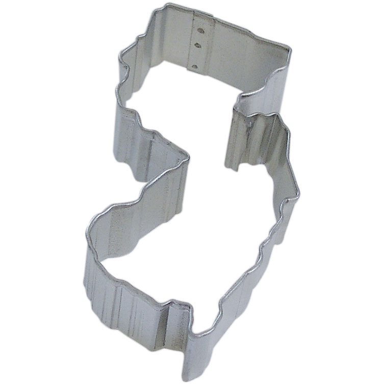 State Of New Jersey Tin Cookie Cutter 4 in - R&M Brand Cookie Cutters - Tin Plate Steel