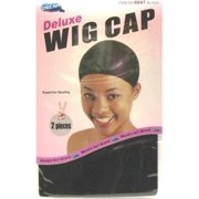 Dream Wig Cap Deluxe Black 2's (Pack of 12) #0097 (Pack of 3)