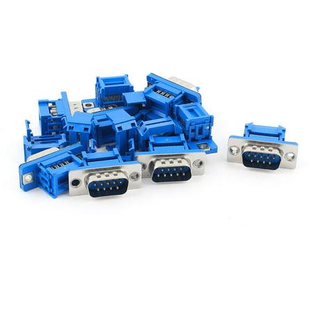 Unique Bargains 10pcs D-SUB DB9 9 Pin Male IDC Type Crimp Adapter Connector for Flat Cable