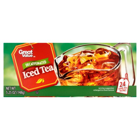 (3 Boxes) Great Value Decaf Iced Tea Bags, 5.25 oz, 24