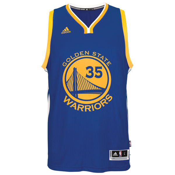 Kevin Durant Golden State Warriors Adidas Road Swingman Jersey (Royal) S