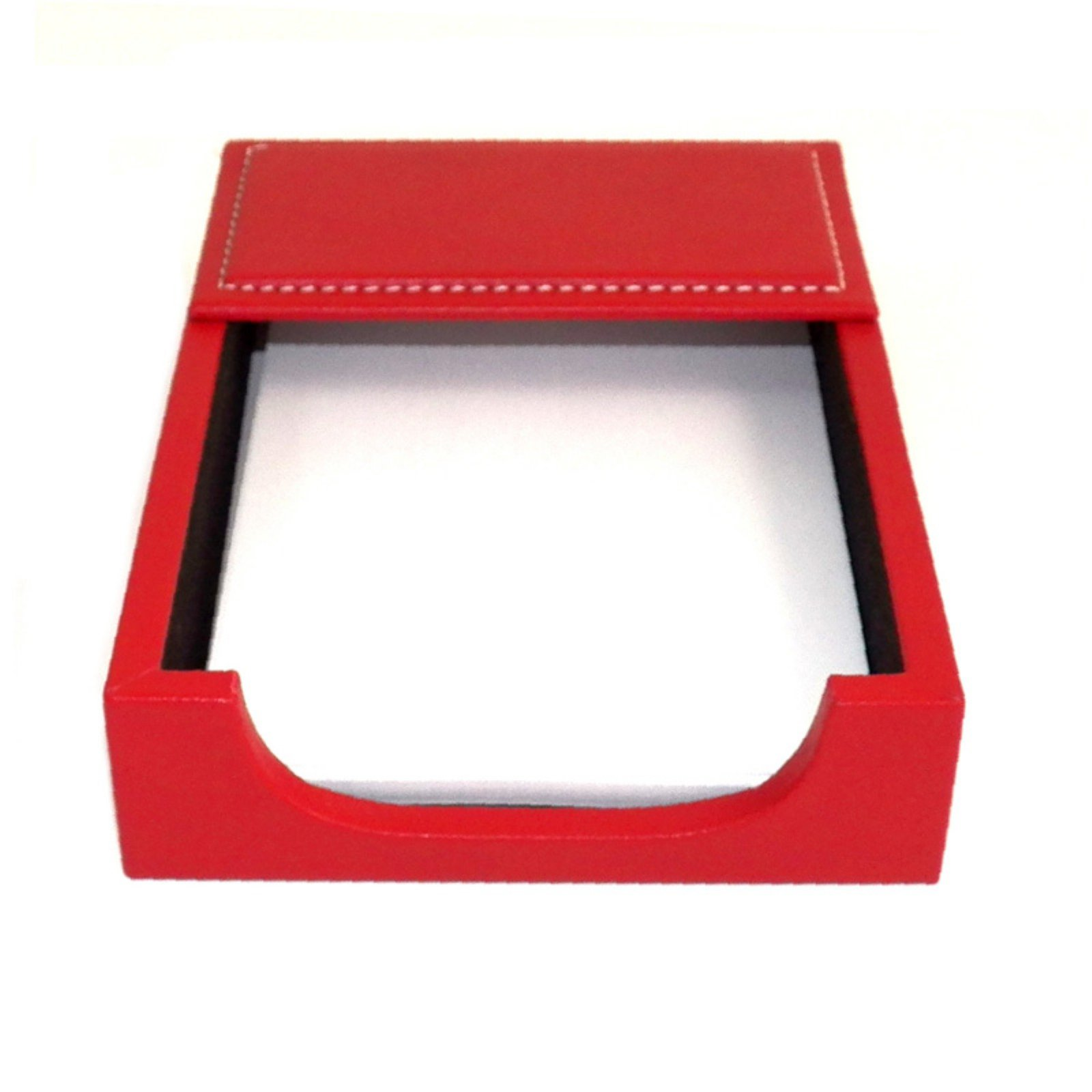 Bey-Berk International D1612 4 x 6 in. Leather Memo Holder Red by Bey Berk