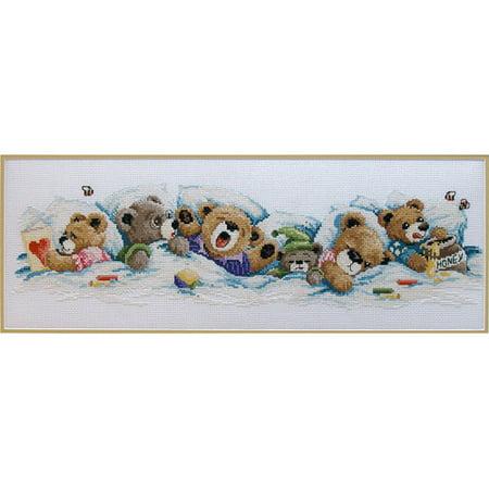 Janlynn Sleepy Bears Counted Cross Stitch Kit, 19