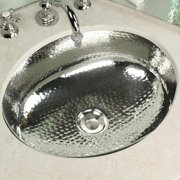 HIGHPOINT COLLECTION Oval Hammered Nickel Vanity Bowl