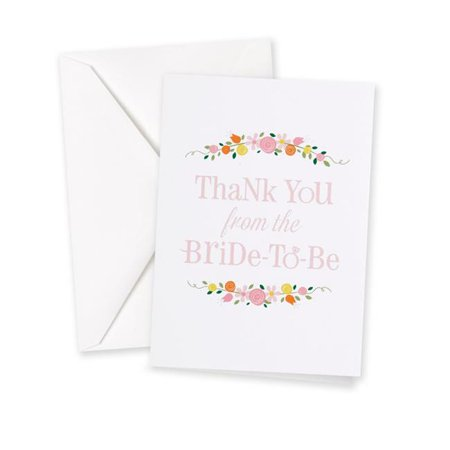 Bridal Shower Thank You Gifts (Le Prise Botanical Bridal Shower Thank You Card (Set of)