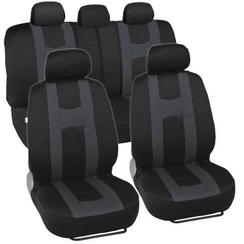 BDK Sporty Racing Style Black and Charcoal Seat Covers