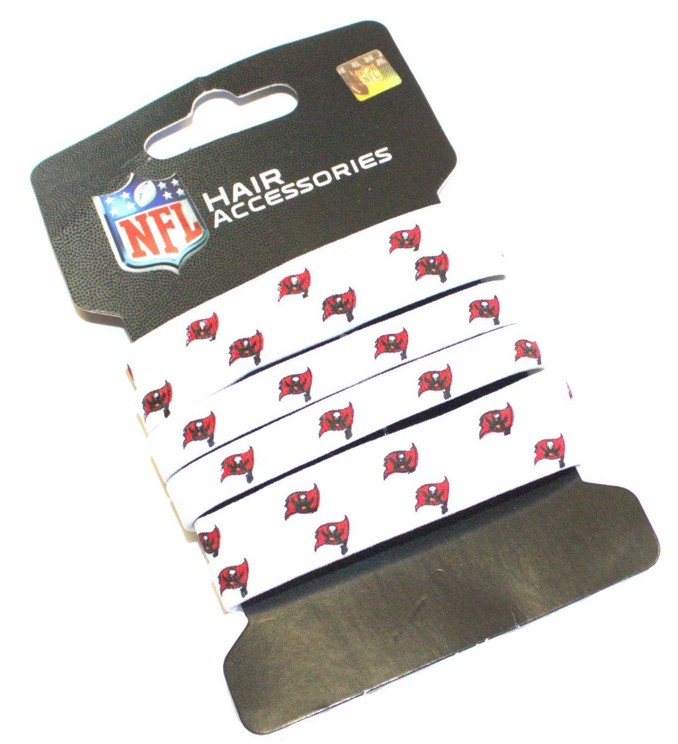 NFL Tampa Bay Buccaneers Hair Accessory 6-Elastic Ponytail Bands