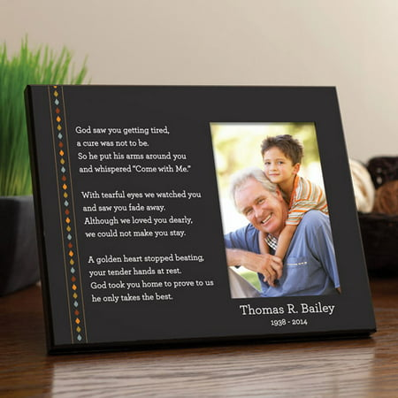 personalized in his memory memorial frame