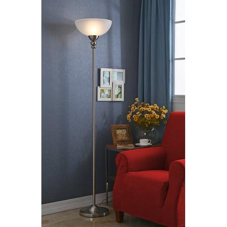 Saratoga Single Light - Kenroy Home 20969 Baubles Single Light Torchiere Floor Lamp
