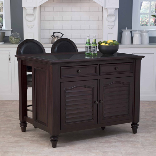 walmart kitchen island home styles bermuda kitchen island and two stools in 862