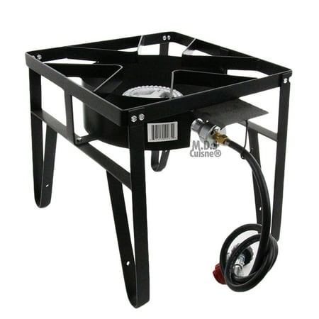 Single High Pressure Gas Burner Square Patio Outdoor Stove Propane Camping New ()