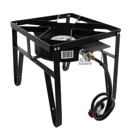Single High Pressure Gas Burner Square Patio Outdoor Stove Propane Camping New