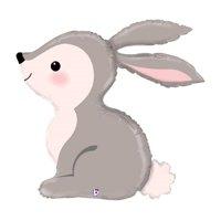 "XL 36"" Woodland Bunny Rabbit Balloon Super Shape Mylar Foil Party Decoration"