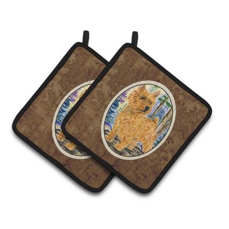 Carolines Treasures SS8011PTHD Norwich Terrier Pair of Pot Holders, 7.5 x 3 x 7.5 in. - image 1 of 1
