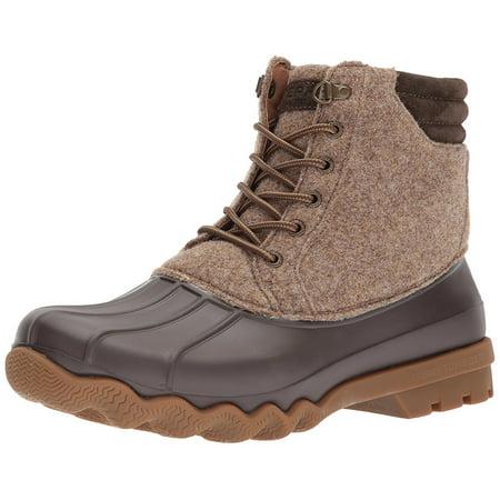 Sperry Top-Sider Men's Avenue Duck Rain Boot, Brown, 11 Medium