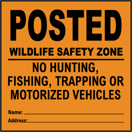 Traffic Signs - Orange Posted Wildlife Safety Zone Sign 10 x 7 Aluminum Sign Street Weather Approved Sign 0.04 Thickness