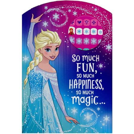 Hallmark Frozen Princess Elsa So Much Fun Juvenile Disney Birthday Card for Her with Fingernail Stickers