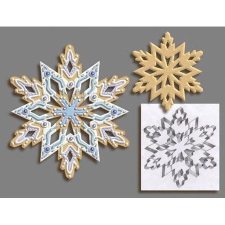 R & M International Giant 7.5 Inch Snowflake Cookie Cutter with Interior Cut-out - Snowflake Cookie