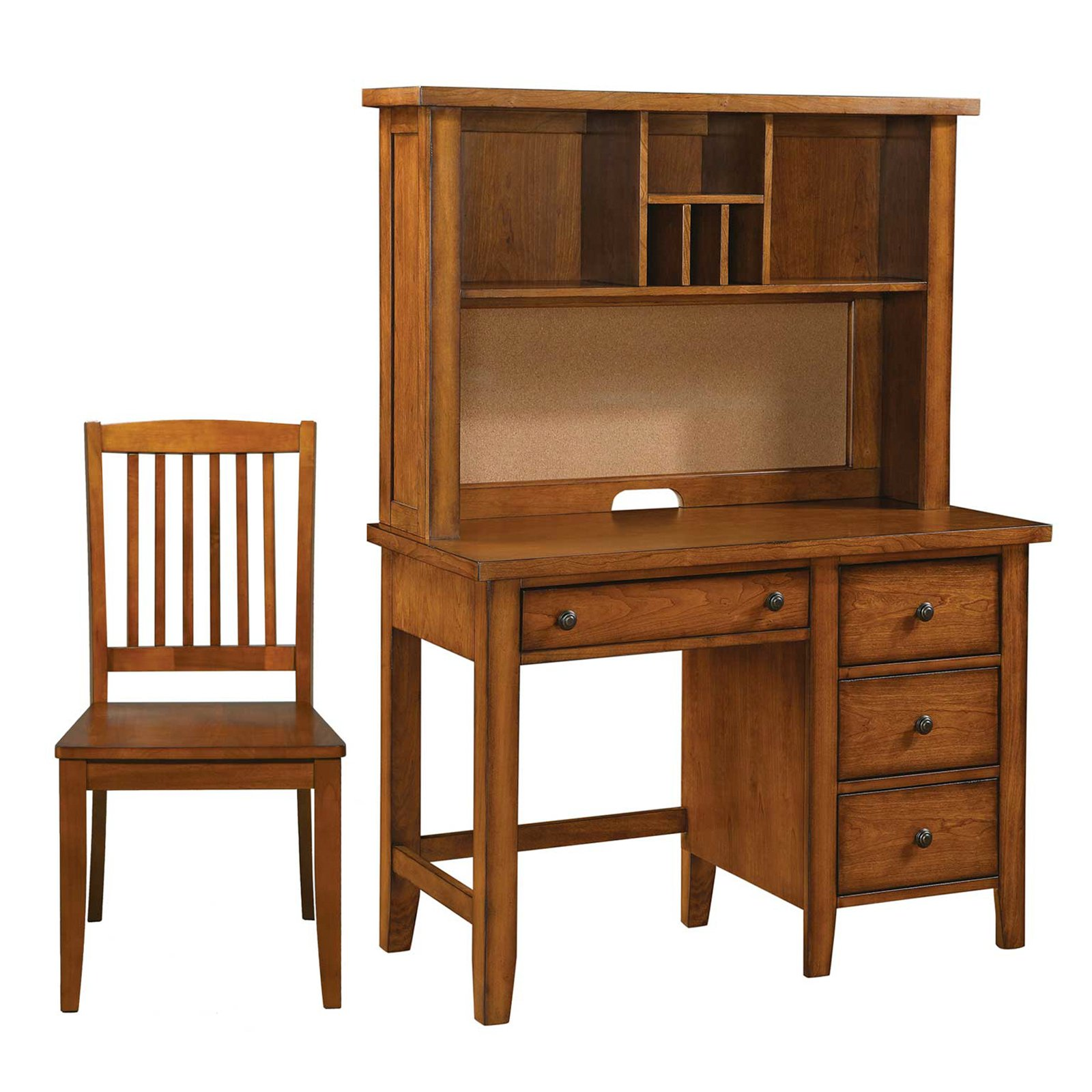 Winners Only Vintage 44 in. Writing Desk with Optional Hutch & Chair - Cognac
