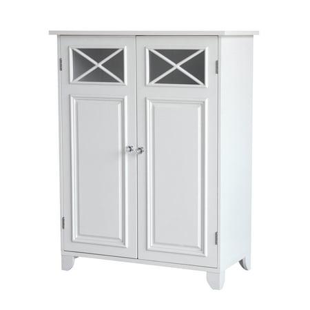 Prairie Double Door Floor Cabinet, White Oak Double Door Cabinet